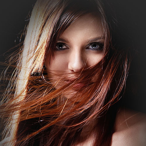 auburn hair girl colour matching