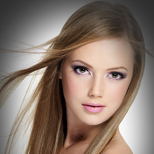 beautiful blond hair model